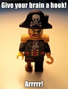 Lego Figur: Piratenkapitän