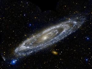UV-Aufnahme der Andromeda-Galaxie (thebadastronomer, CC-BY-SA 2.0)