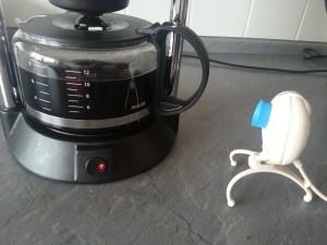 Kaffeekanne und Webcam