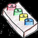 Clicker zum Abstimmen für Multiple-Choice-Fragen
