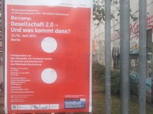 Poster zum BarCamp Gesellschaft 2.0 in Berlin