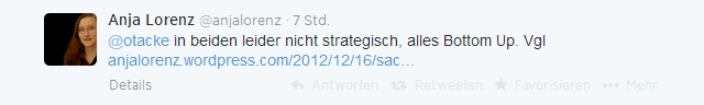 @otacke in beiden leider nicht strategisch, alles Bottom Up. Vgl http://anjalorenz.wordpress.com/2012/12/16/sachsen-und-oer-nette-idee-aber-die-politik-ist-wohl-noch-nicht-so-weit/ …