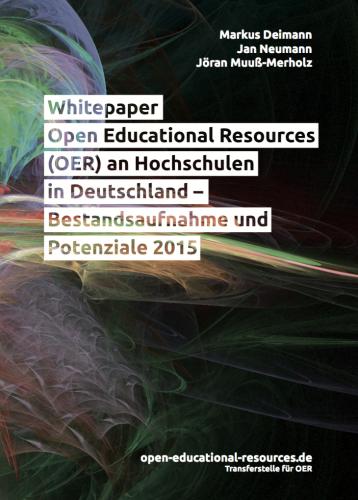 """Umschlagbild: Foto """"Colorful Horizon Fractal"""" von Devin Moore (CC BY 2.0), bearbeitet von Markus Deimann, Jan Neumann, Jöran Muuß-Merholz / open-educational-resources.de – Transferstelle für OER"""